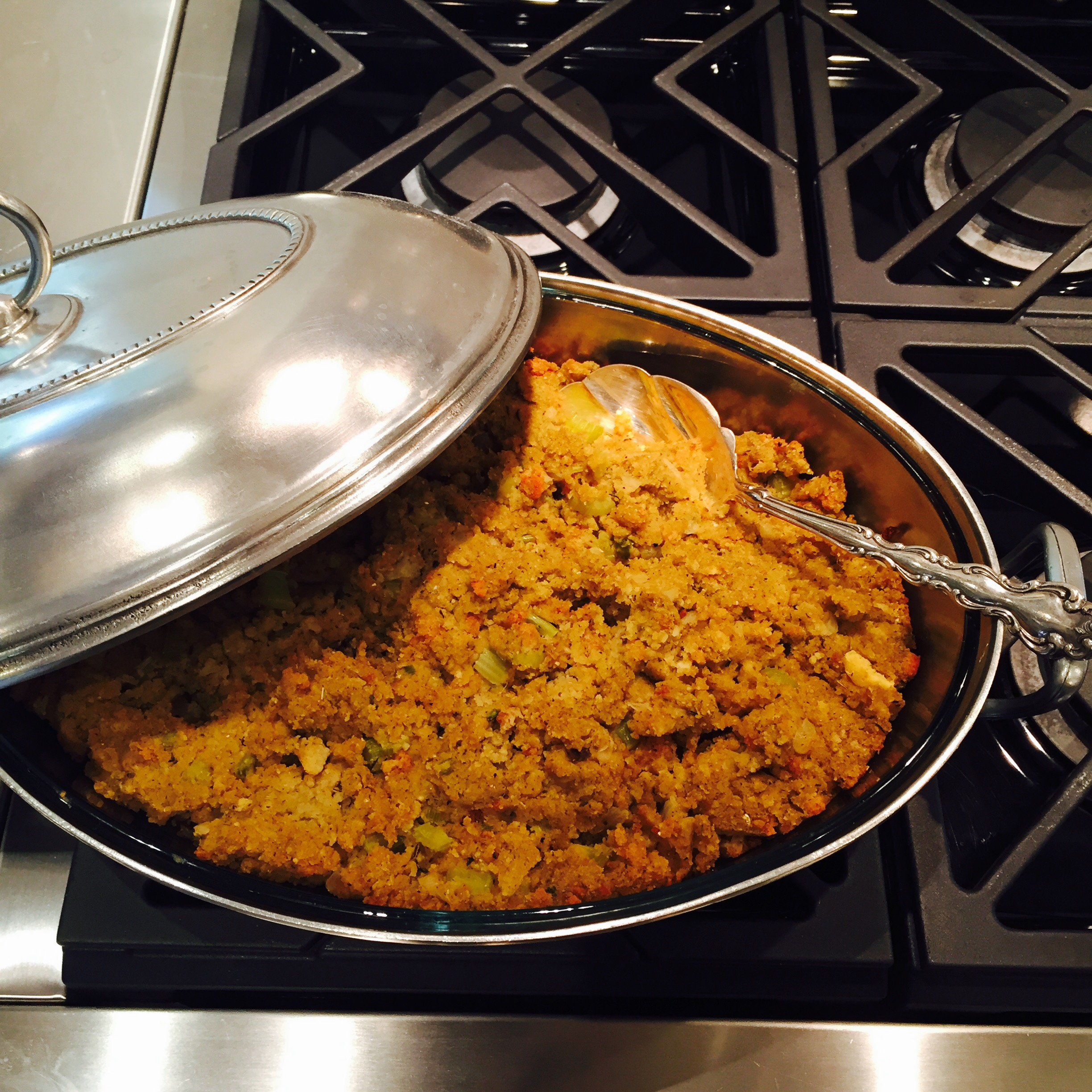 Gluten Free Thanksgiving Stuffing #1 from semi-scratch.