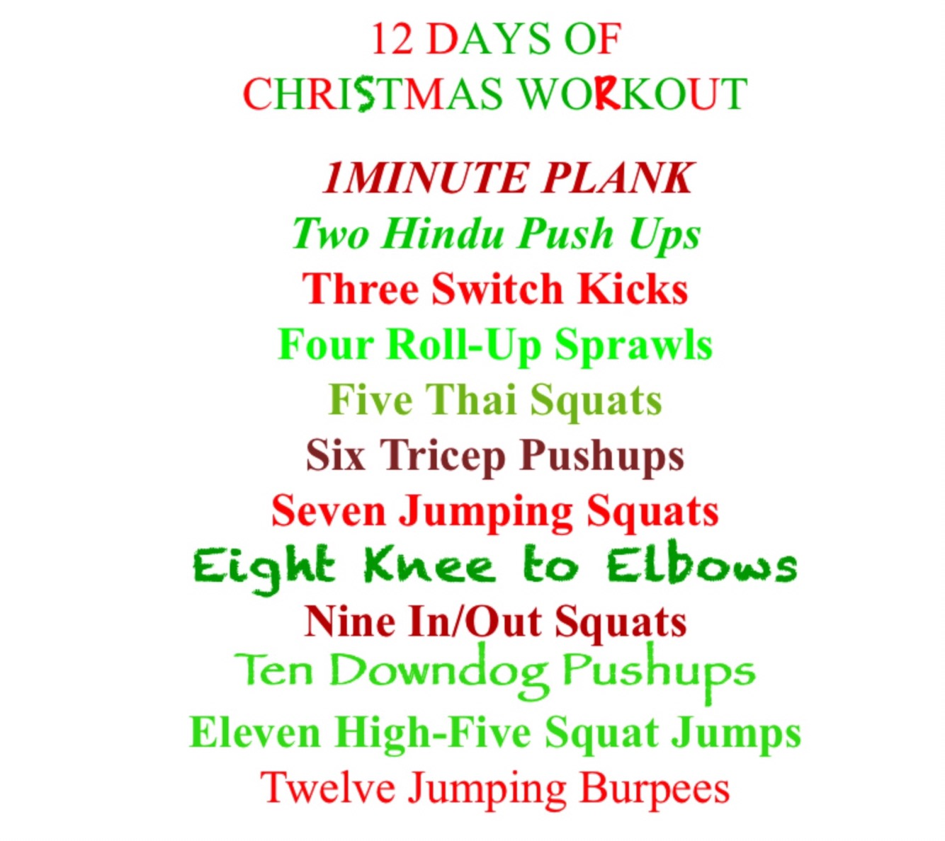 Jill Trebilcock's 12 Days of Christmas Workout